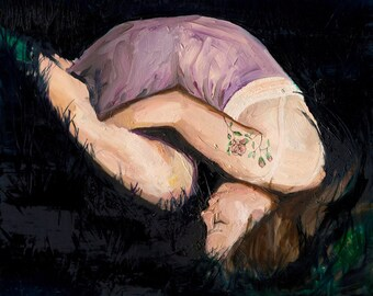 Favorite Dress - Giclee Art Print, Figure Painting, Large Figurative Art