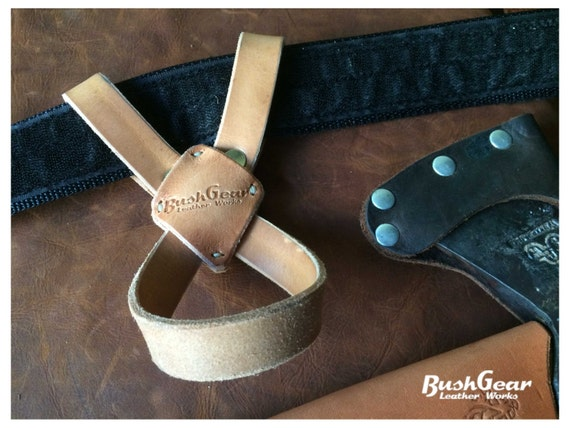 the x leather axe belt loop holster etsy