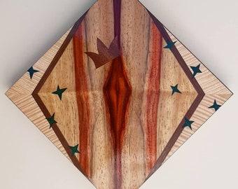 Exotic Hardwood Vulva Charm /& Keyring