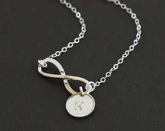 Sterling Silver Infinity Necklace - Sterling Silver