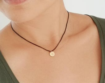 Gold Initial Necklace - 14K Gold Filled