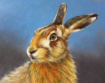 Watching. Limited edition Giclee print of an original pastel painting.