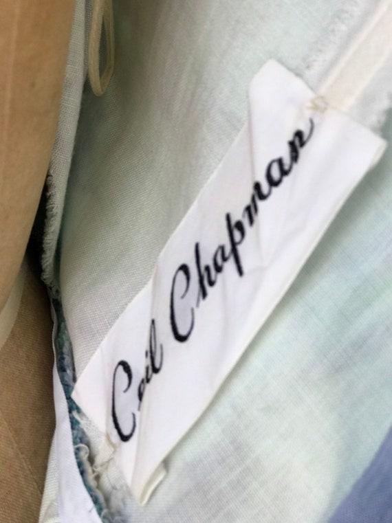 Designer 1950s Ceil Chapman Teal + Purple Dress. - image 8