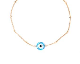 Evil eye bracelet - protection bracelet - satellite bracelet - amulet - nazar - evil eye jewelry - opal bracelet
