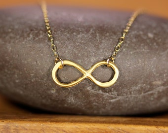 Infinity symbol necklace, eternity necklace, love necklace, gift for her, dainty gold chain, gift for sister, mom, everyday jewelry, forever