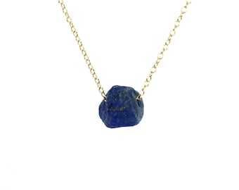 Lapis necklace - lapis lazuli - december birthstone - blue stone necklace - healing necklace