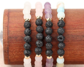 Diffuser bracelets, energy bracelets, healing stone bracelets, oil diffuser, stacking bracelets, stretch bracelets, gemstone beaded bracelet