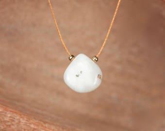 Solar quartz necklace - teardrop necklace - string necklace - stone necklace - crystal necklace - quartz necklace