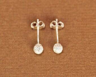 Silver ball earrings - gold ball earrings - silver studs - tiny ball earrings - little silver ball studs - sterling silver stardust earrings