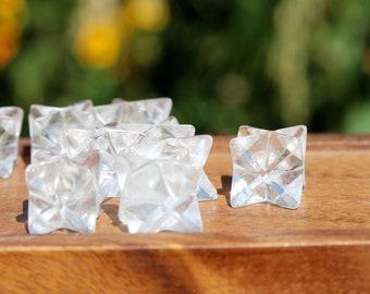Quartz Merkaba, merkaba star, chakra stone, sacred geometry, grid crystal, healing crystal