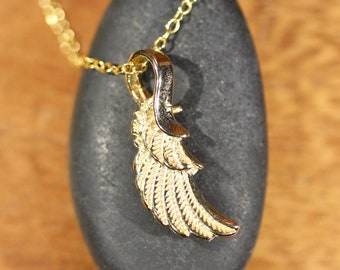 Gold wing necklace - angel wing jewelry - bridesmaid gift - wedding jewelry - flying wings - angel wing pendant