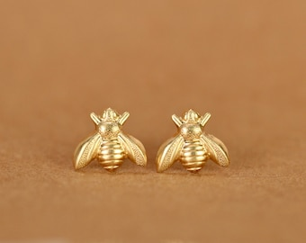 Bee earrings - bee studs - bumble bee earrings - summer earrings - fun stud earrings - cute stud earrings - cute earrings - honey bee