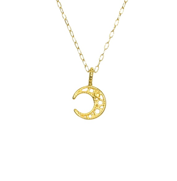 Moon necklace, crescent moon jewelry, celestial necklace, tiny gold moon, crescent moon, dainty moon pendant, 14k gold filled chain