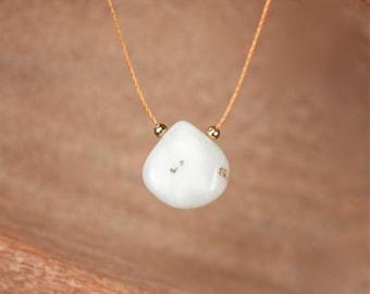 Solar quartz necklace, crystal necklace, string necklace, healing stone necklace, quartz necklace, 14k gold filled chakra necklace