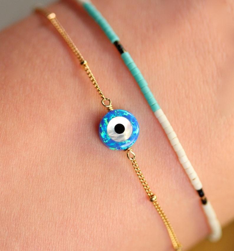 Evil eye bracelet  protection bracelet  good luck charm  image 0