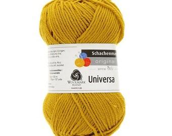 Mustard Universa 55 percent acrylic 45% wool 50g ball
