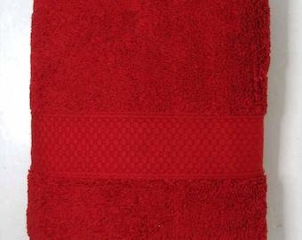 50x90cm towel cotton Terry color bordeaux Red