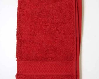 Towel invited 30x50cm cotton Terry color Bordeaux Red