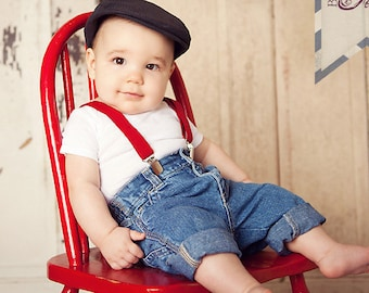 Boys Red Suspenders, Baby Boy Suspenders, Boys Valentines Day, Toddler Suspenders, Boys 1st Birthday Outfit, Boys Clothes, Wedding Outfit