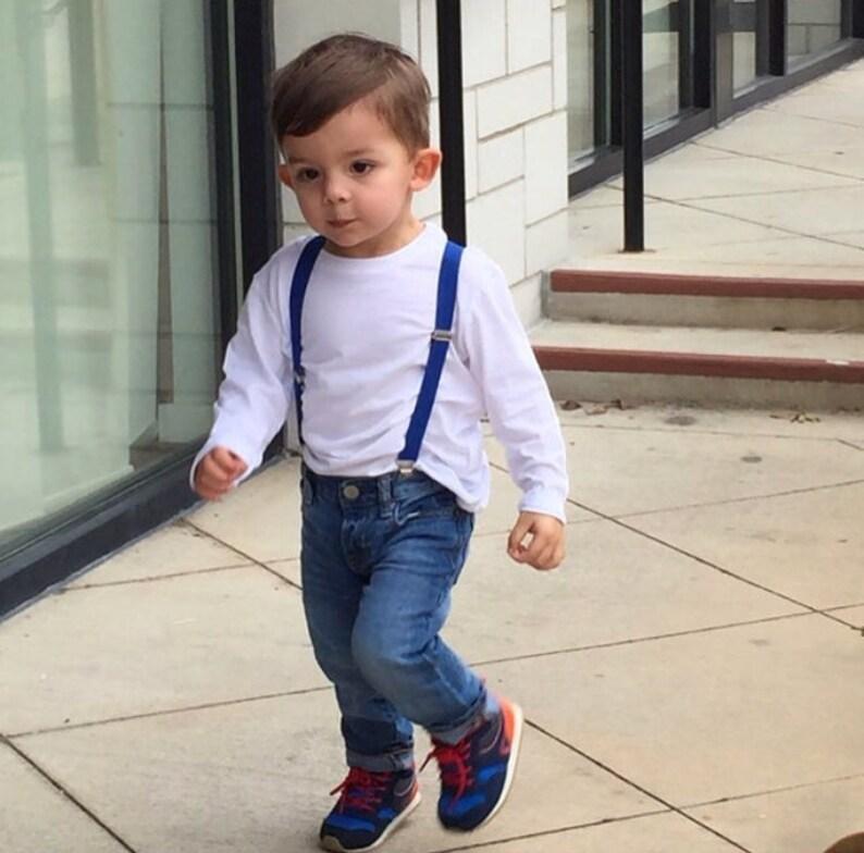 731f2968e44e Boys Royal Blue Suspenders Toddler Suspenders Baby Boy | Etsy