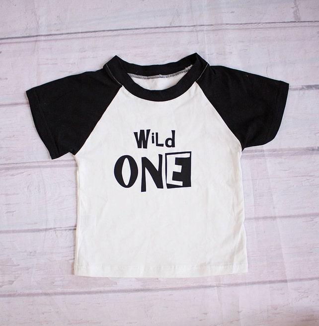 Baby Boy Clothes Wild One Birthday ShirtWild 1st Top
