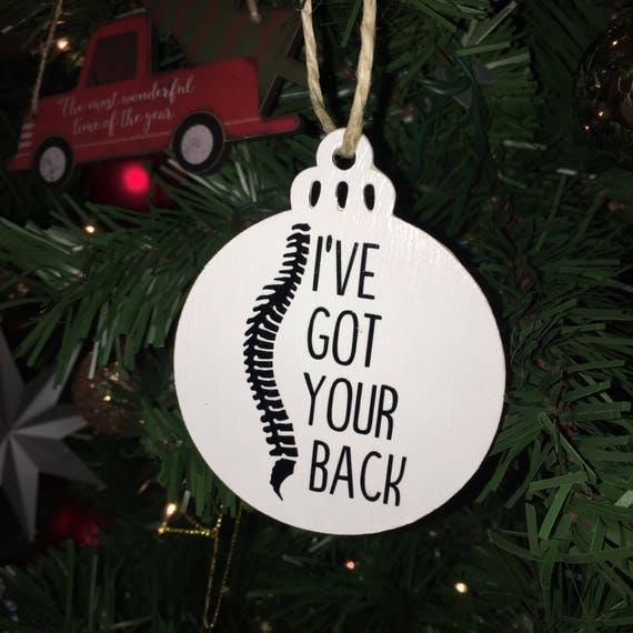 Chiropractor Ornament I've Got Your Back Christmas | Etsy
