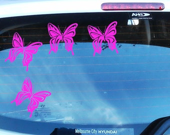 4X Butterfly Car Decals.  10cm x 10cm car decals