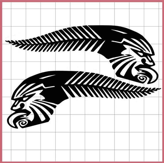 kiwi stolz sticker silber farn maori tattoo tribal motiv. Black Bedroom Furniture Sets. Home Design Ideas