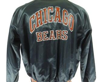 Vintage 80s Chicago Bears Chalk Line Jacket XLarge NFL Football Print Nylon   H12I 1-2  63a7f1086
