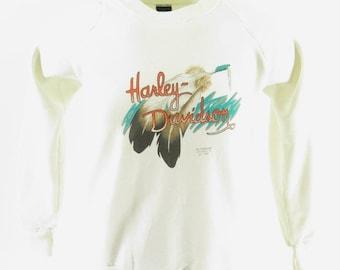 5ec0441be24c Vintage 3D Emblem Harley Davidson Sweatshirt Medium Fitted Deadstock  Wyoming Nos  H95T 0-13 Shelf
