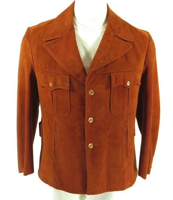 Vintage 60s Suede Leather Jacket 42 fits Large Rus