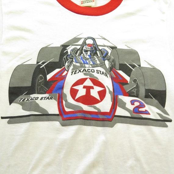 5 Vintage 80s Texaco Deadstock 50 0 T Star F2 M H67Q Formula Ringer Racing Thin 50 Shirt aardqxwz