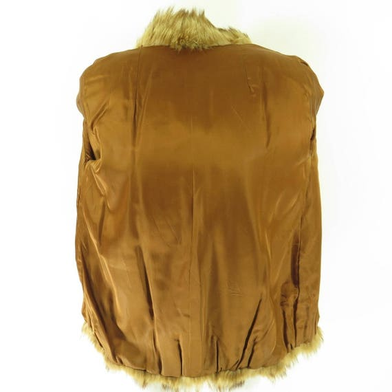 10 Embroidered Jacket Fox 3 80s M H30O Coat Womens Real Vintage Soft Fur 1wFaWqx