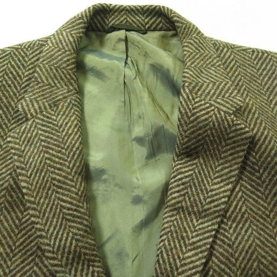 Button Coat 42 3 Vintage 1 Herringbone 60s Wool 12 Sport Thin R Jacket Mens H38V gnxvaqASZ