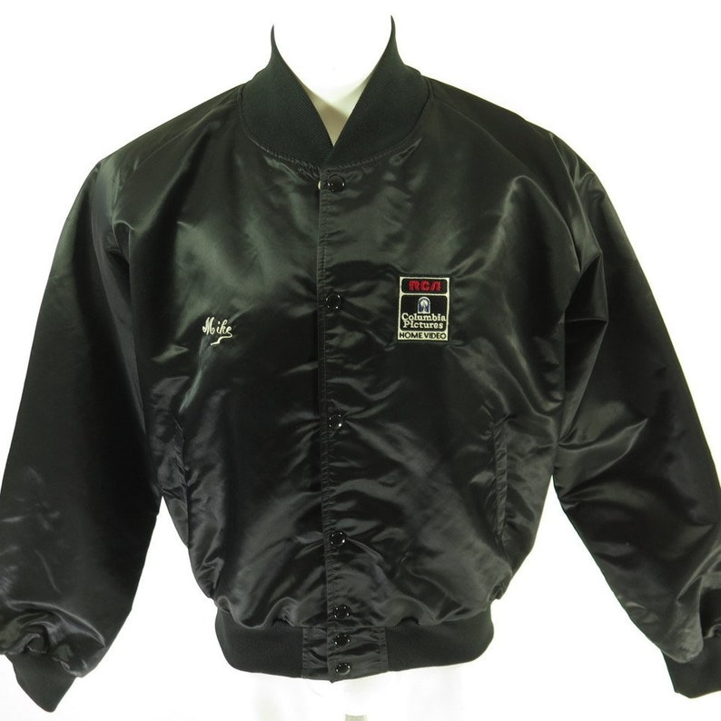 H77T/_1-3 Vintage 80s Against All Odds Movie Jacket XL Columbia Pictures RCA Video Black