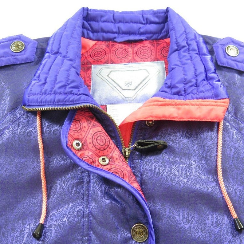 Vintage 80s Retro Skiing Ski Jacket Womens 4 Medium Kaelin Puffy Skiing H18P/_2-1/_Puffy