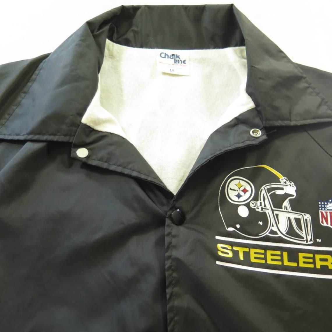 Vintage 80s Chalk Line Pittsburgh Steelers Jacket Medium  488b7e2e0