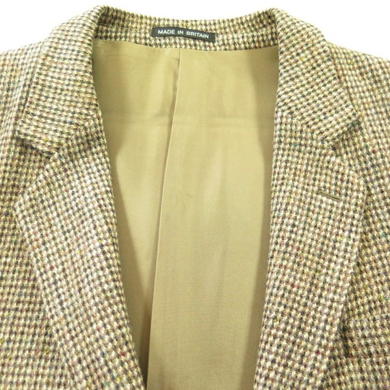 Button 1 H07X Tweed Vintage Wool 44 Coat Harris Mens Fleck 3 England 60s Made 2 Sport Zgq7O