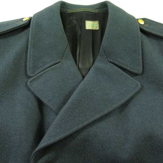 3 H34I Overcoat Coat 50s Long Mens Swedish Buttons 4 40 Wool Vintage Military Embossed F7wnBtqTT