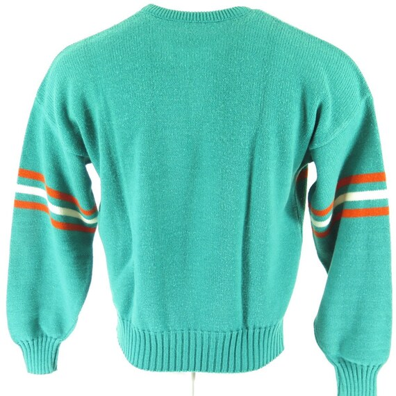 1 H15S Football Miami Sports 4 Mens Dolphins Sweater 80s Shelf NFL Turquoise Vintage XL nvPT1