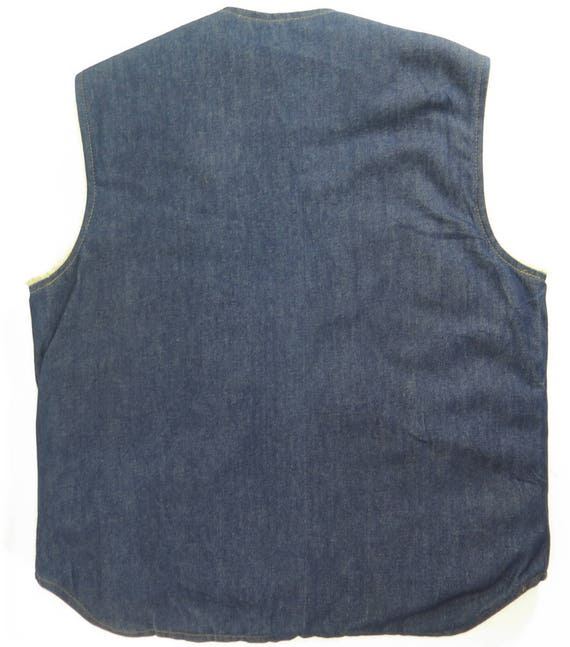 9 Come H75Z Fleece Liner Vest Mens Strong 1 Denim Vintage USA Blue 60s On M Deadstock 5CwxZq