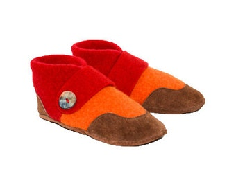 af4f3a7a60d0 Kids Felted Wool Slippers