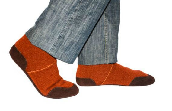 Mens Wool Slippers with Suede Leather Soles Men Cashmere   Etsy 2d3d554abdf2
