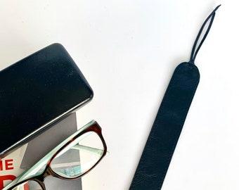 Lain Leather Bookmark: Black