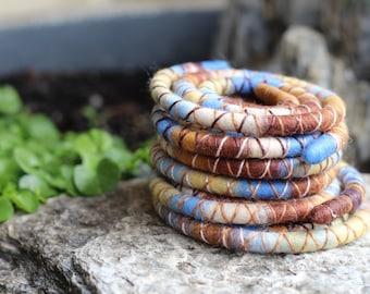 Summer Field - custom made Spiralock - you choose the length - the original funky bendable dread tie