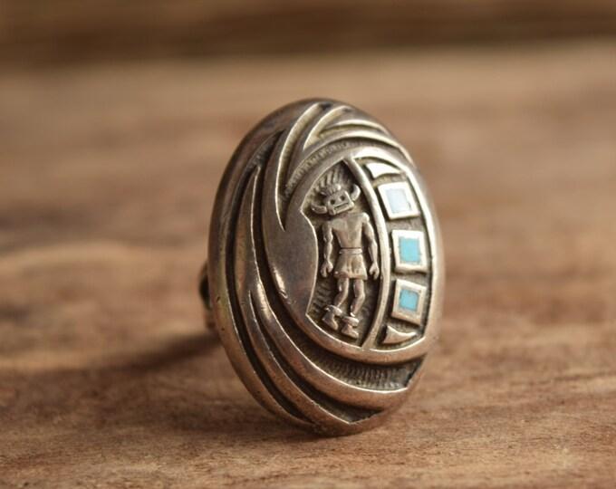 Hopi Ring - Native American Vintage Ring - Kachina Ring