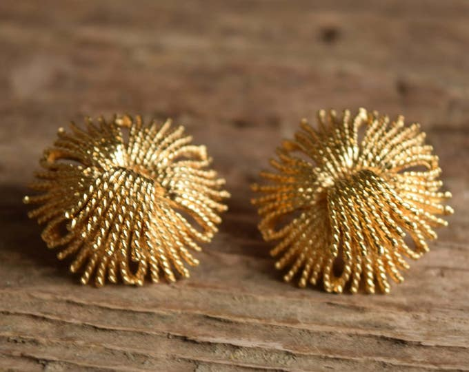 Golden Burst Stud Earrings
