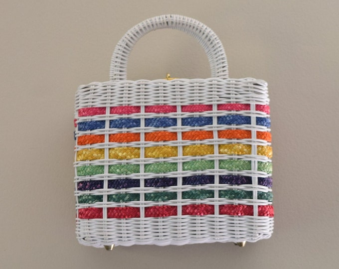Featured listing image: Woven Rainbow Handbag