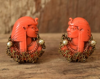 Selro Egyptian Revival Earrings - Clip on