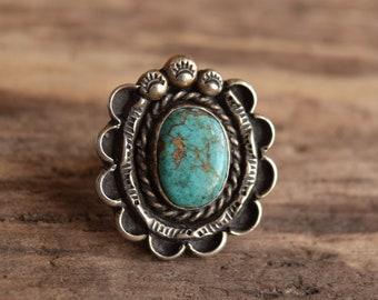 Size 6.5 Turquoise & Sterling Ring